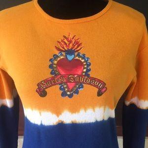 🦊 Harley Davidson tie dye look shirt.